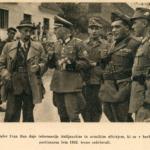 Collaborazionisti sloveni assieme ad ufficiali italiani e tedeschi durante un'azione antipartigiana