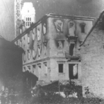 Edifici incendiati a Selce in Dalmazia, nell'estate del 1942