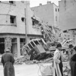 Edifici distrutti dal bombardamenti di Belgrado nell'aprile 1941