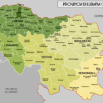 Dettaglio della Provincia italiana di Lubiana 1941-1943
