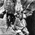Ivan Ribar, a sinistra e Tito, a destra