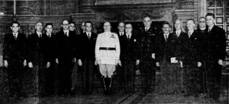 Benito Mussolini in visita a Lubiana, 18 giugno 1941
