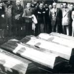 Villorba di Treviso, 22 ottobre 1945. Riesumazione dei corpi dei fucilati ad Opicina nel dicembre 1941