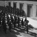 Sfilata delle truppe italiane a Livno