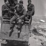 Soldati di una colonna militare in Dalmazia