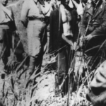 Partigiano croato poco prima di venir fucilato dagli italiani presso Metković in Dalmazia