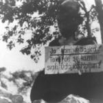 Impiccagione di un partigiano a Metković