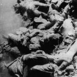 Cadaveri dei prigionieri di Jasenovac nel fiume Sava