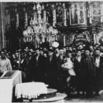 Conversioni forzate di serbi in una chiesa di Glina, Croazia, giugno 1941