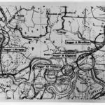Una mappa in cui sono riportati i 4 campi di concentramento che costituivano il campo di Jasenovac, Croazia