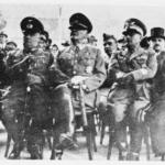 Militari italiani, tedeschi e croati ad una cerimonia religiosa: da sinistra a destra i generali Von Troll, Gleise Horstenau, Slavko Kvaternik (NDH), Mario Roata e l'arcivescovo Stepinac