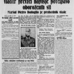 Prima pagina del giornale Slovenec del 27 luglio 1943
