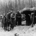 """La Divisione """"Italia-Matteotti"""" in un momento di sosta, inverno 1944-45"""