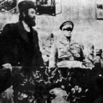 Il comandante četnico Pavle Đurišić assieme al governatore italiano, generale Pirzio Biroli