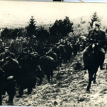 Partigiani in marcia nel Litorale sloveno