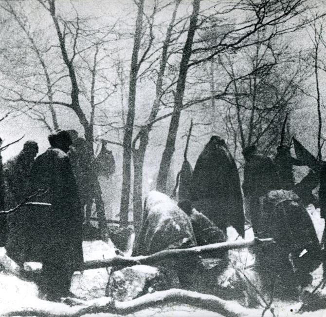 Partigiani nella neve nel Litorale sloveno