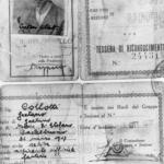Tessera dell'UNICI di Gaetano Collotti, dell'Ispettorato speciale di PS