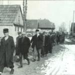 Prigionieri catturati durante un rastrellamento delle camicie nere