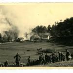 Villaggio incendiato dalle truppe italiana in provincia di Lubiana