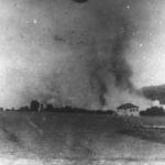 Villaggio incendiato dalle truppe italiane nei pressi di Sušak, vicino Fiume