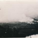 L'incendio del paese di Ustje, provincia di Gorizia