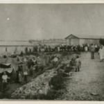 Il campo di concentramento italiano nella baia di Jaz sull'isola di Molat. Parte del campo per le donne con bambini