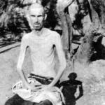 Deportato scheletrico nel campo di Rab/Arbe