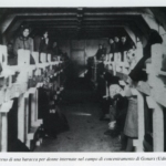 Interno di una baracca per donne internate nel campo di concentramento di Gonars