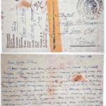 Lettera di Koler Franc, internato civile nel campo di Gonars, inviata alla figlia il 05/08/1942